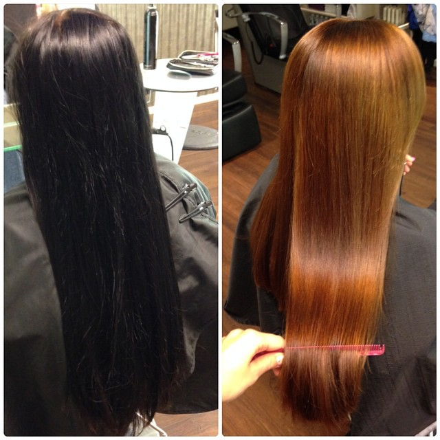 avfärgning hår